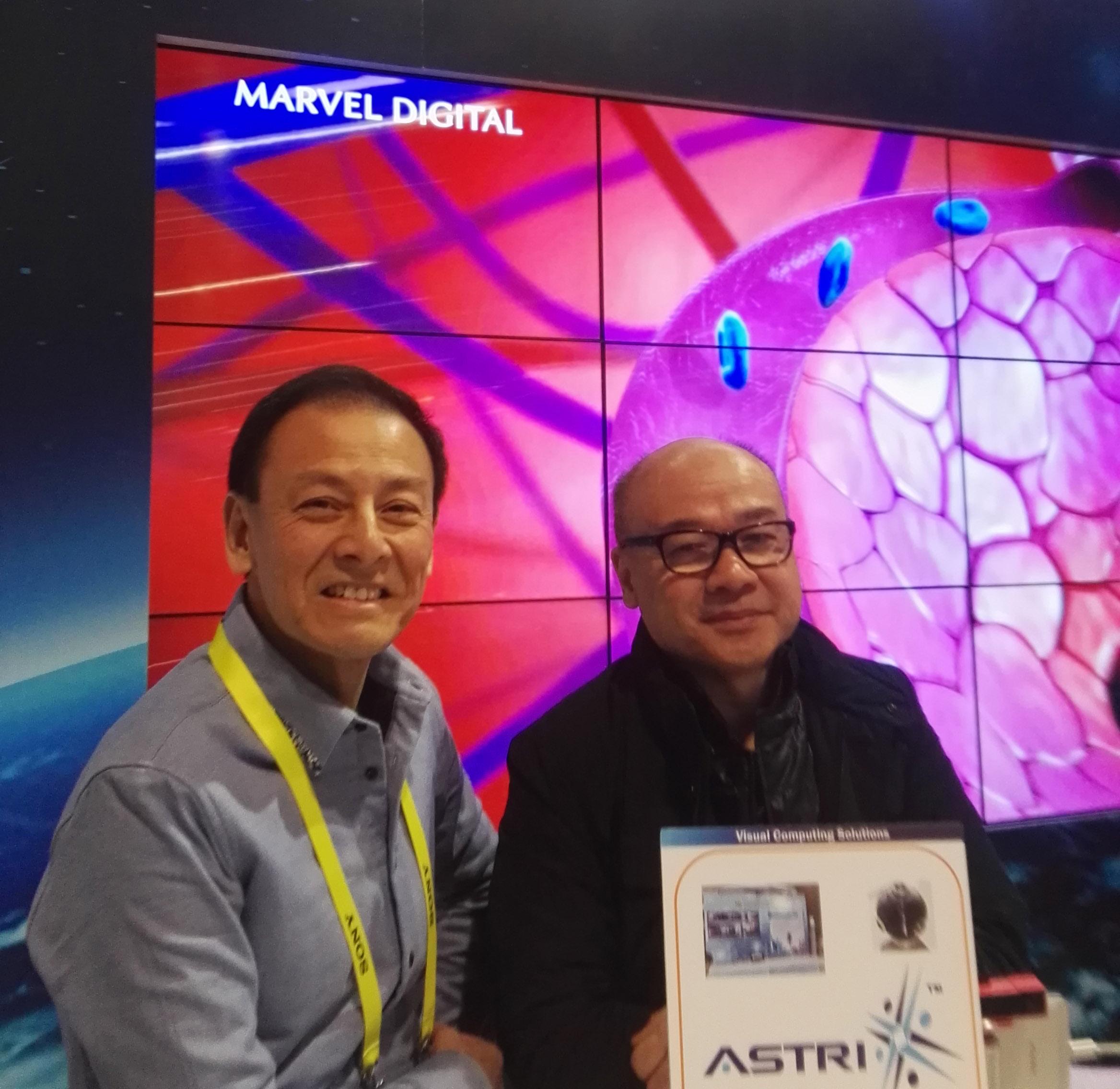 应科院与万维数码在2017年国际消费类电子产品展(CES 2017)中共同演示最新的显示技术备受瞩目
