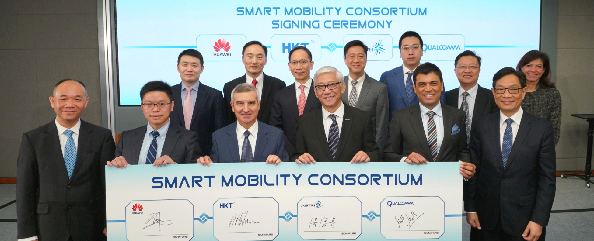 ASTRI, HKT, Huawei and Qualcomm Technologies work together to build a smart mobility system for Hong Kong using Cellular-V2X technologies